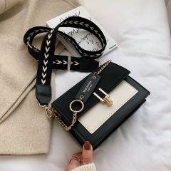 new mini handbags women fashion ins ultra fire retro wide shoulder strap messenger bag purse simple style Crossbody Bags