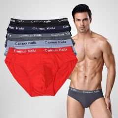 5pcs/lot Men Briefs Comfy Model Sexy Underwear Solid Briefs Factory Men Bikini Underpants Panties Plus L-5XL 6XL (7XL=One Size)