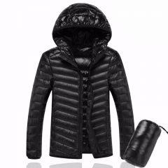 Men Hooded ultraLight White Duck Down Jacket Warm Jacket Line Portable Package men pack jacket