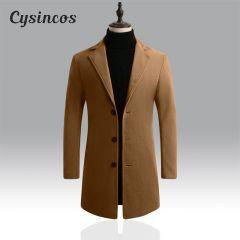 Winter Wool Jacket Men Blend Autumn Windbreaker Brand Men's High-quality Wool Coat Outwear Mens Coats Casual Jackets